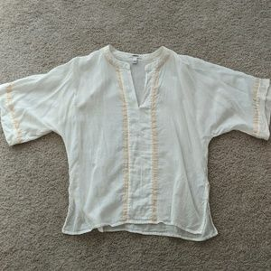J Crew sheer top / coverup